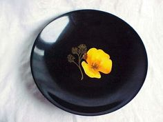 1950s Couroc Bowl with Yellow California by IrrenaysTreasures