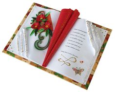 Book Folding, Book Crafts, Quilling, Crafts To Make, Anniversary Gifts, 8 Martie, Cards, Goodies, Manualidades