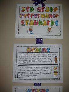 Common Core Standards on display