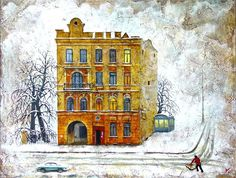 "Nikolay Bogomolov — ""Portrait of the house III"", oil on canvas, 60*80cm, 2004 / Saint Petersburg, Russia"