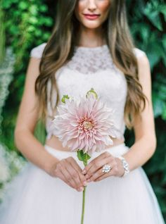 romantic garden bride