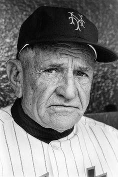 Close-up of New York Mets manager Casey Stengel during game versus the Milwaukee Braves at the Polo Grounds. New York, New York (Image # 2078 ). Cardinals Baseball, Baseball Hats, Neil Leifer, Casey Stengel, Billy Martin, Baseball Pictures, Travel Words, Curious Cat, Sports Figures