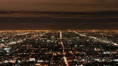 Nighttime cityscape time-lapse of Los Angeles by Kyle Lyons.