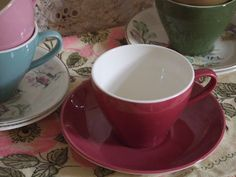 I need this colour for my collection of Crown Lynn tea cups, does any one have one in their cupboard? New Zealand, Tea Cups, Pottery, Crown, Cupboard, Tableware, Colour, Collection, Teapot