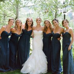 Navy bridesmaid dresses | photo by: James Christianson Photographer /| Theknot.com