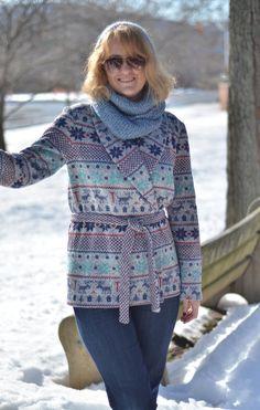 Sweater Fleece Jacket #burdastyle #member #project #diy #sew #sewing