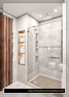 Idias do banheiro com chuveiro - Bathroom remodel master - Bathroom Design Luxury, Bathroom Layout, Modern Bathroom Design, Toilet And Bathroom Design, Washroom Design, Toilet Design, Bathroom Colors, Design Kitchen, Bathroom Renos
