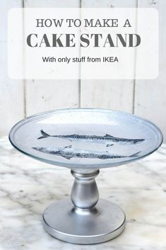 Tips Easy Diy Decoupaged Ikea Cake Stand Pillar Box Blue, Creative Collection Ikea Cake Stands Ikea Cake Stand, Cake Stands, Small Dresser With Mirror, Home Decor Kitchen, Diy Home Decor, Clear Plates, How To Make Cake, Decorating Your Home, Easy Diy