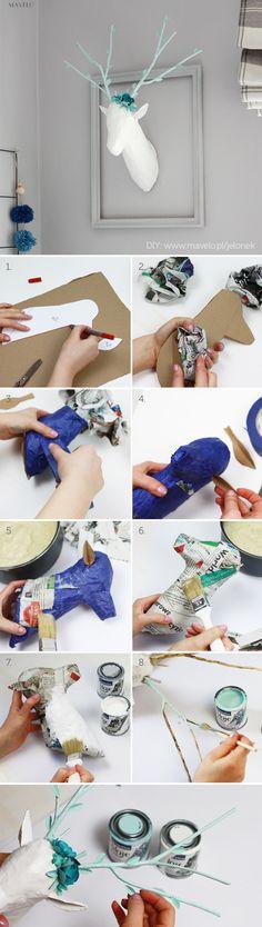 DIY Tutorial – Paper Mache Animal Head