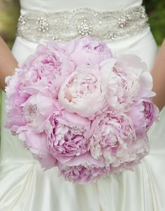Pink Peony Bouquet of Sarah Bernhardt Peonies