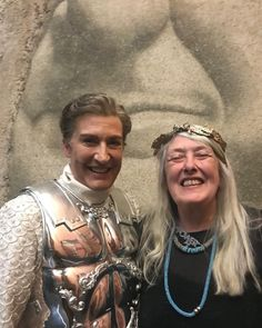 Well I'll be Damed... Mary Beard came to see Sarah Connolly in the opening night of Giulio Cesare. Here they are backstage in front of…