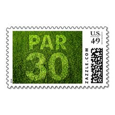 Golfers 30th Birthday Party Par 30 Postage Stamp. Wanna make each letter a special delivery? Try to customize this great stamp template and put a personal touch on the envelope. Just click the image to get started!