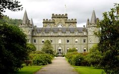 """Inveraray Castle    The Inveraray Castle in Argyllshire, Scotland, is said to be haunted by the """"ghost of a harpist who was hanged in 1644 for peeping at the lady of the house,"""" according to MSNBC. Visitors have reported hearing a mysterious harp playing at the castle."""