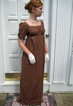 Cotton Regency dress
