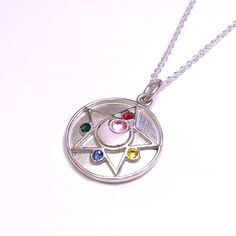 Premium Bandai Sailor Moon R Crystal Star pendant (silver)! More info and shoppings links here http://www.moonkitty.net/reviews-buy-sailor-moon-jewelry.php #SailorMoon