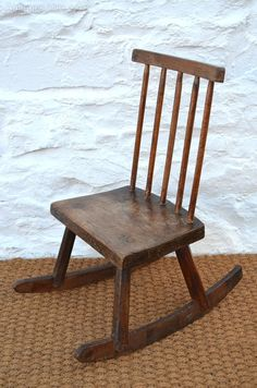 18thC Welsh Oak Childs Stick Chair