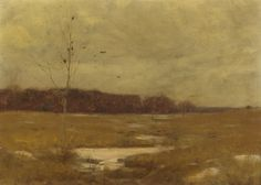 Dwight William Tryon (August 13, 1849 – July 1, 1925) was an American landscape painter in the late 19th and early 20th centuries. His work was influenced by James McNeill Whistler, and he is best known for his landscapes and seascapes painted in a tonalist style