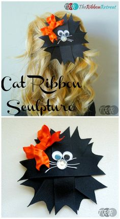 Cat Ribbon Sculpture - The Ribbon Retreat Blog