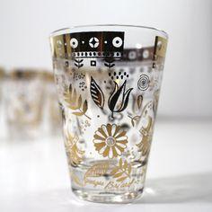 6x Georges Briard Persian Garden Glassware