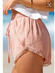 Salmon Colored Light Shorts