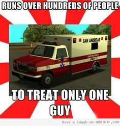 GTA San Andreas LOGIC: Kill All People To Save One!  ---->Follow Me For More Funny Picture http://pinterest.com/suckerfish990/