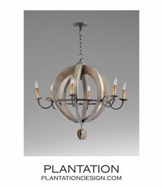 Plantation Design - Etienne Wood Chandelier | No. 1