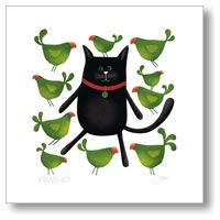 The Green Party by Red Ink Design - prints Cat Paws, Dog Cat, Green Party, New Zealand, Wall Decals, Fine Art Prints, Ink, Canvas, Revenge