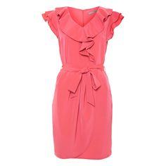 Coral Freda Wrap Front Dress
