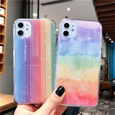 Glitter Rainbow Star Cute Phone Case For iPhone 11 Pro Max X XR XS 6 6s 7 8 Plus SE 2020 Luxury Gradient Fundas Back Cover | Touchy Style Glitter Phone Cases, Cute Phone Cases, Cute Cases, Mobile Phone Cases, Iphone Phone Cases, Iphone 5c, Iphone 7 Plus, Apple Iphone, Friends Phone Case