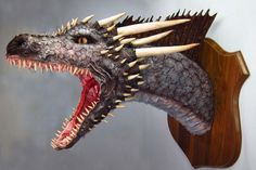 Paper Mache Drogon Trophy final - This guys paper mache models are amazing!