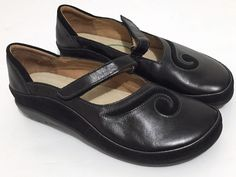 eedf6147d02 New NAOT Matai Black Leather Mary Jane Koru Comfort Shoes Size 38 US 7