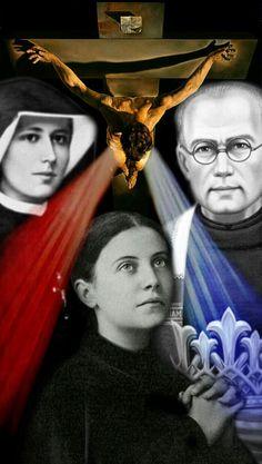 Misericórdia Santa Faustina Santa Gemma Galgani São Maximiliano Maria Kolbe