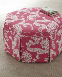 """Jayden"" Ottoman by Lilly Pulitzer Home at Horchow....Would b fabulous w/ new bedding! I hope I win the sweepstakes! :)"