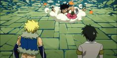 Really? You guys have to choose that moment to start fighting (Fairy Tail- Natsu  Gajeel)