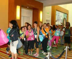 Zumba Instructors Convention - Orlando - 2013!  Who gets up at 3am to stand in line for the Outlet store opening?!!??!?   WE DO!