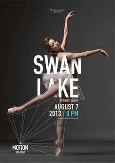 Beautiful dance poster series integrating type, image and line. #PosterDesign #GraphicDesign #ArtDirection