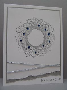 QFTD191 Wreath of Peace by suen - Cards and Paper Crafts at Splitcoaststampers