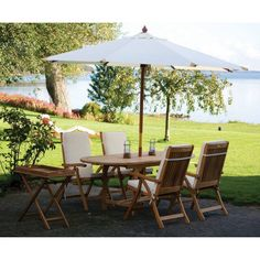 Outdoor Royal Teak 60 - 78 in. Family Extension Oval Estate Patio Dining Set - Seats 4 Green - P35GR