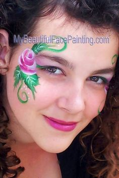 One-stroke rose face paint
