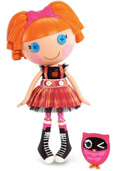 8. Bea Spells-a-Lot Full Size Doll Sewn from a School Girl's Uniform on October 16th (Dictionary Day) Pet Owl