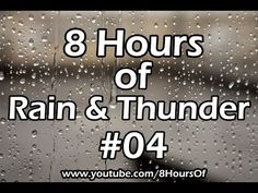 ▶ 8 hours of sleep sounds - relaxing rain & thunder #04 - meditation, yoga, tinnitus, sleep music - YouTube