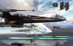Impresionantes Star Wars obras de Kurt Miller