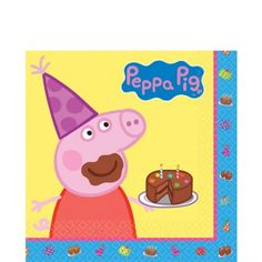 Peppa Pig Lunch Napkins 16ct - Party City