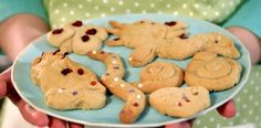 Lemon animal biscuits, perfect for making with children.