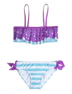 Star Cutout Striped Bikini Swimsuit, at justice I want this swim suit!!!!