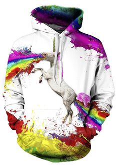 fb814ead41 Pin Punk Sweatshirt 2016 New Women Men Hoodies Rainbow Horse Printed  Pullovers Casual Long Sleeve Loose Tops Couples Sudaderas to one of your  boards if you ...
