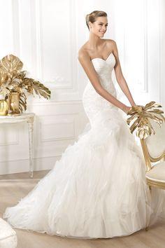 2014 Luxurious Wedding Dresses Mermaid Sweetheart Sweep/Brush Train With Beads New Style