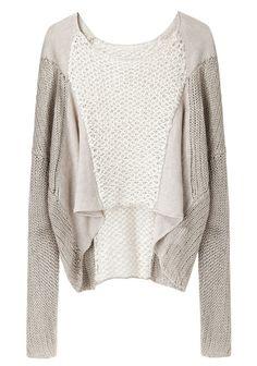 Helmut Lang  Crop Front Linen Sweater