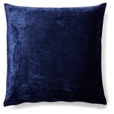 Check out this item at One Kings Lane! Solid 20x20 Velvet Pillow, Indigo