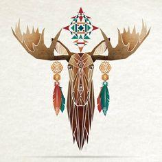 moose Art Print by Manoou | Society6